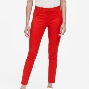 Banana Republic Red Sloan Pant